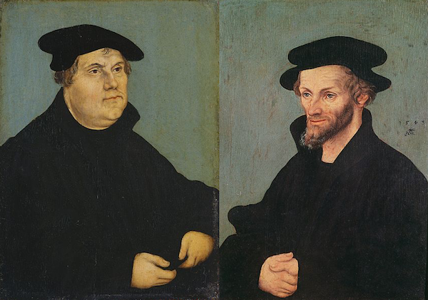 Luther and Melanchthon, painted by Cranach, 1543
