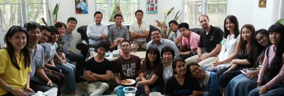 Christmas lunch with Bangkok Bible Seminary students